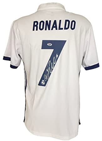 Cristiano Ronaldo Signed Adidas Real Madrid Soccer Jersey PSA