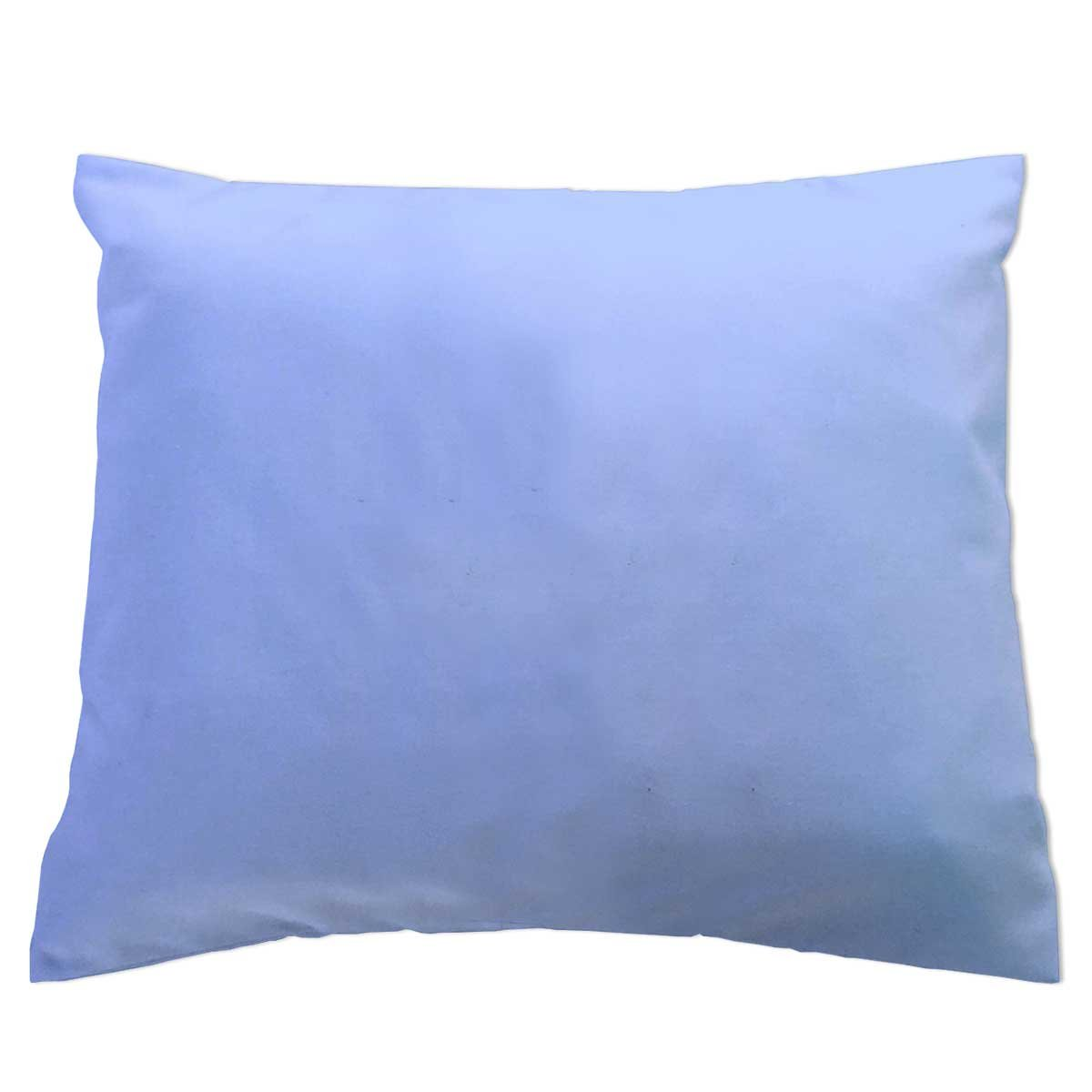 Crib/Toddler Flannel Baby Pillow Case - Light Solids - Blue - Made In USA