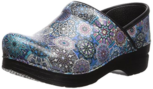 Dansko Women's Professional Clog, Blue Tile Patent, 38 M EU (7.5-8 US) by Dansko