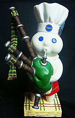 "Vintage Pillsbury Doughboy Danbury Mint Porcelain 5""H International Figurine-RARE Country of SCOTLAND-New Old Stock"