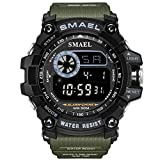 Watch VOEONS Digital Watch, 165FT Waterproof Military Running Sports Watch for Men & Boys, Outdoor Work Wrist Watch - Alarm, Stopwatch, Back Light - Army Green
