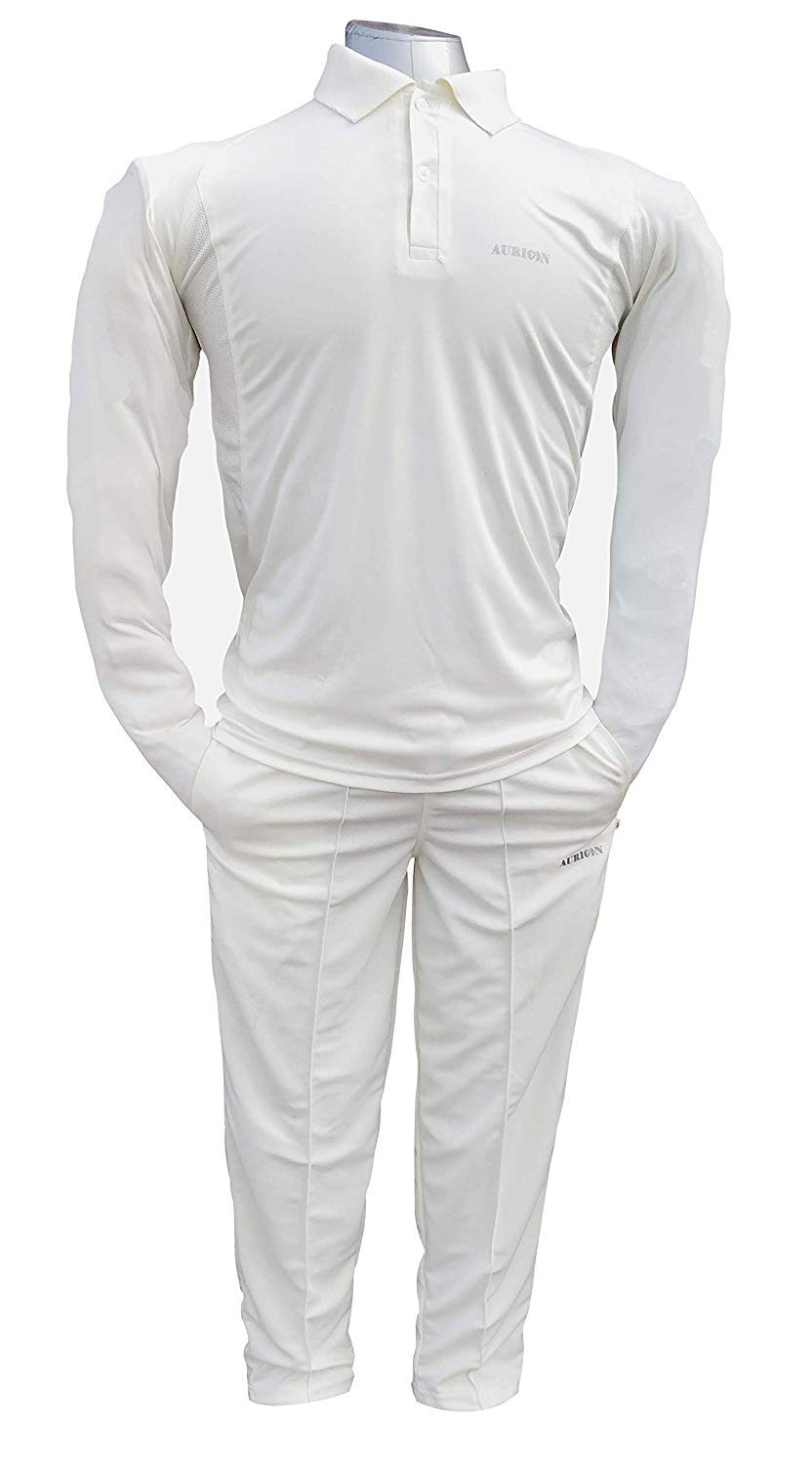 AURION Cricket Off White T-Shirt and Trousers Combo for Men (B07L5WM8KM) Amazon Price History, Amazon Price Tracker