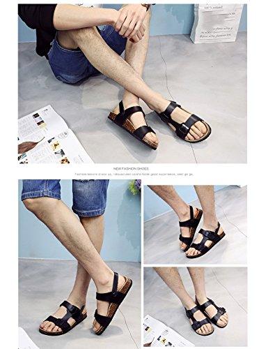 pantofole 3 openwork in CN41 toe aperto sughero EU40 Due 1 UK7 uomo dimensioni da Colore Sandali open qwTWatHn