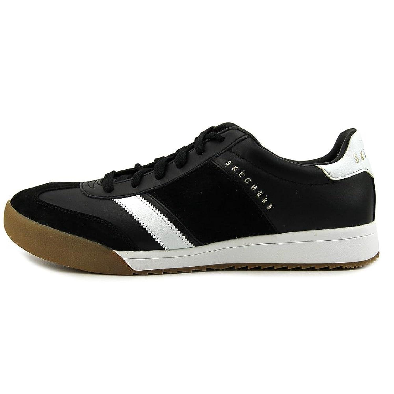 52322/BKW Zinger-Scobie Herren Sneaker Schwarz/Weiß, Größe:45, Farbe:Schwarz Skechers