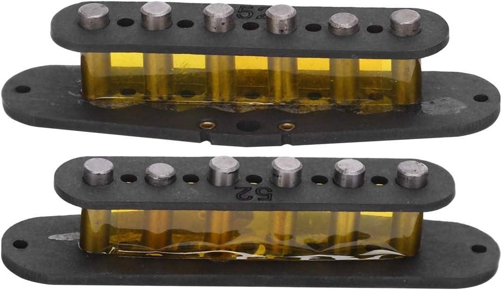 Pastilla de cuello de guitarra de 2 piezas, imán de Alnico 5 para guitarra Telecaster, sonido fuerte y buen reemplazo adaptable para guitarras y pastillas