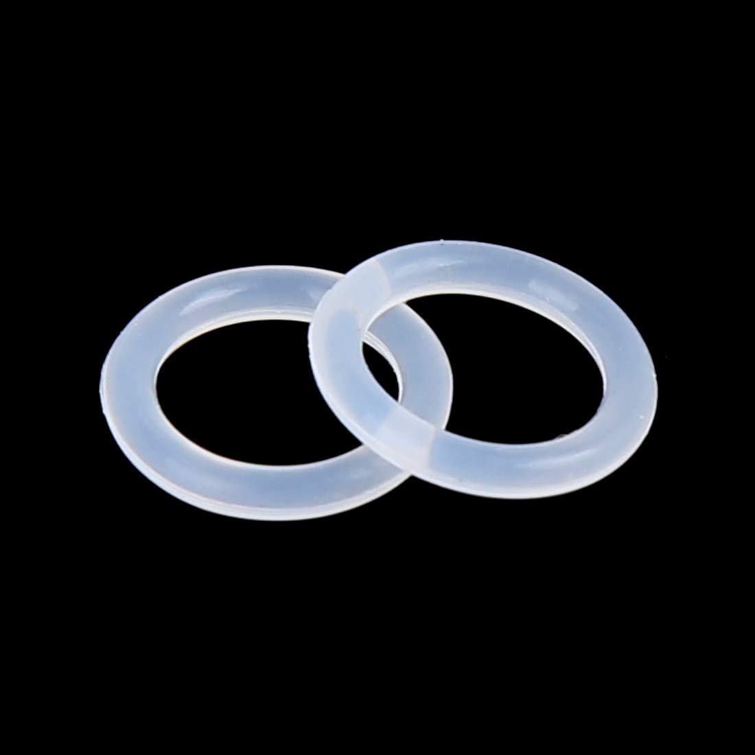 X AUTOHAUX 100pcs White Silicone O-Ring Sealing Gasket Washer 10mm X 1.5mm