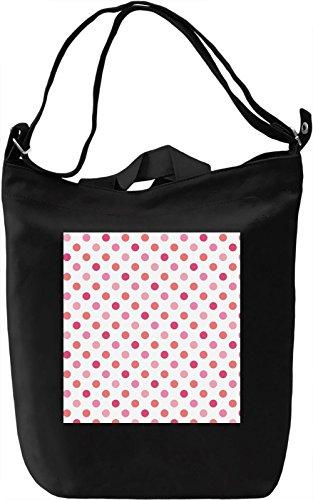 Pink Bubbles Print Borsa Giornaliera Canvas Canvas Day Bag  100% Premium Cotton Canvas  DTG Printing 