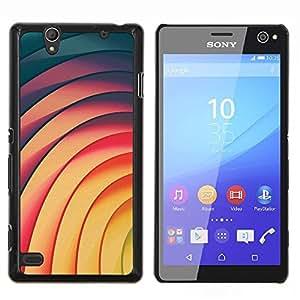 Dragon Case - FOR Sony Xperia C4 - vortex lines yellow teal pink pattern - Caja protectora de pl??stico duro de la cubierta Dise?¡Ào Slim Fit