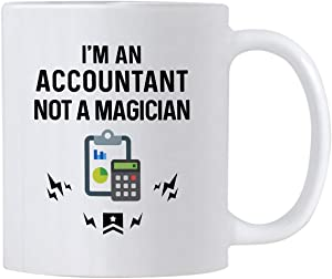 Casitika Accountant Gifts. I'm An Accountant Not A Magician. Funny 11 oz Accounting Coffee Mug. Gift Idea for Financial Advisor, Auditor or CPA Friends or Co-workers.