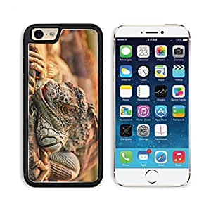 Animals Reptiles Iguana Branches Ready Attack Apple iPhone 6 TPU Snap Cover Premium Aluminium Design Back Plate Case Customized Made to Order Support Ready MSD iPhone_6 Professional Case Touch Accessories Graphic Covers Designed Model Sleeve HD Template W