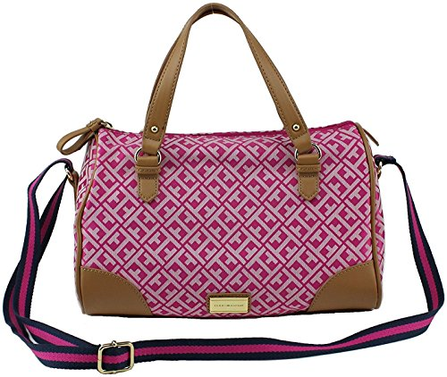 Tommy Hilfiger Cv Satchel Purse Hangbag in Pink