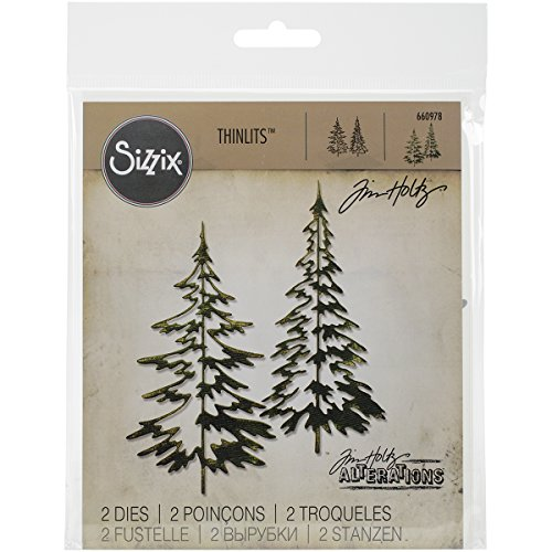 Sizzix 660978 Thinlits Die Set, Woodlands by Tim Holtz, 2/pack