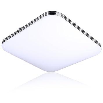 B-right Deckenleuchte LED 20W, Deckenlampe Kaltweiß, 5000K 1400LM ...