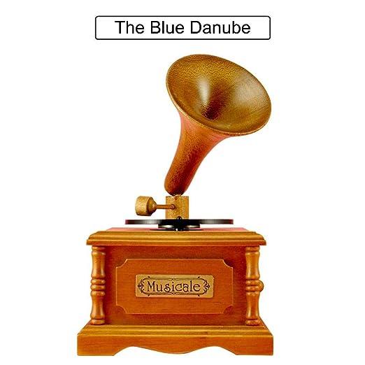 Beesuya Tocadiscos Retro fonógrafo Caja de música Caja de música ...