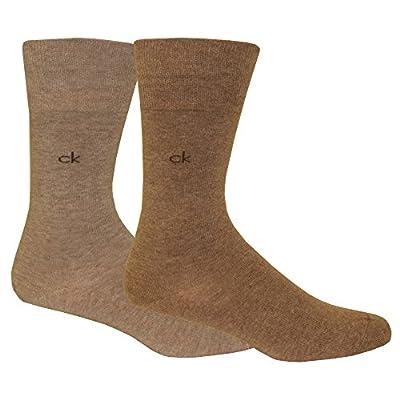 Calvin Klein 2-Pack Flat-Knit Men's Socks, Brown/Beige