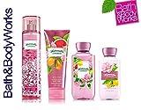 Bath & Body Works WATERMELON LEMONADE Deluxe Gift Set Lotion ~ Cream ~ Fragrance Mist ~ Shower Gel Lot of 4
