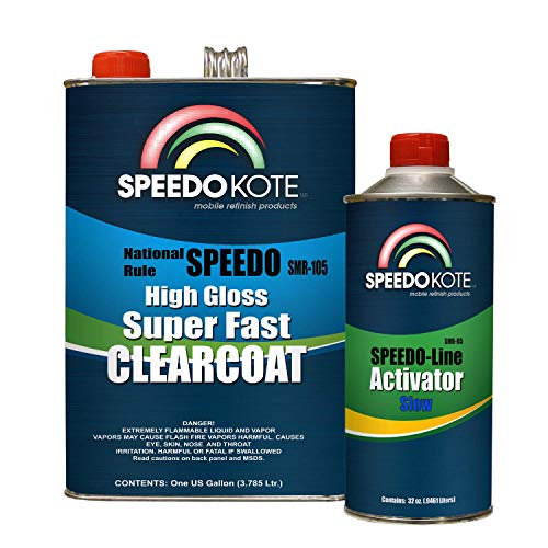 (Speedokote Mobile Refinish Clear Coat High Gloss Super Fast Clearcoat Gallon Kit)
