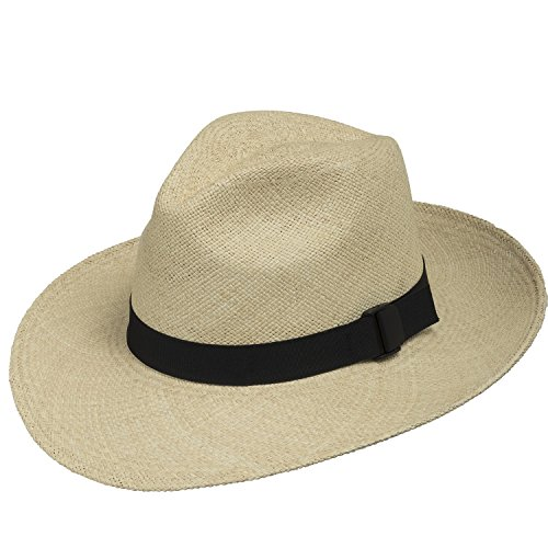 FEDORA PACKABLE FOLDABLE Panama Straw Hat CLASSIC 7 3/4 by Ultrafino
