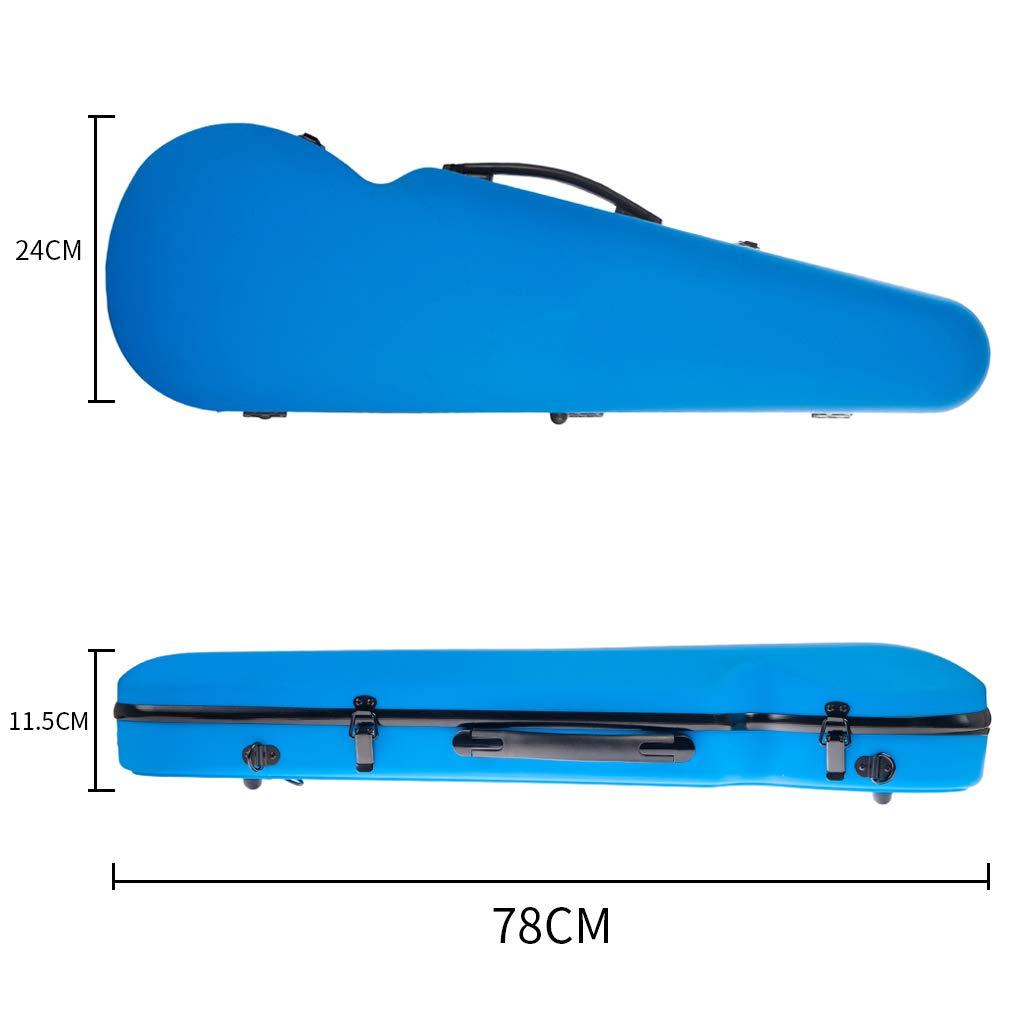 FLAMEER Sac de Protection pour Violon avec Poign/ée Etui pour Violon avec Hygrom/ètre Int/égr/é D/ébutants Amateur Double Sangle Noir 78x24x11,5cm