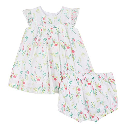 Bébé blanc Culotte Fille Robe Absorba Blanc 0SqPwP