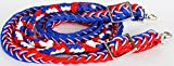 PRORIDER Horse Knotted Roping Western Barrel Reins Nylon Braided US Flag Rodeo 607107 Review