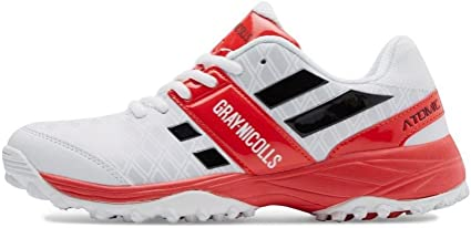 Gray Nicolls Atomic Cricket Shoes - Youth/Boys, Red White, US6