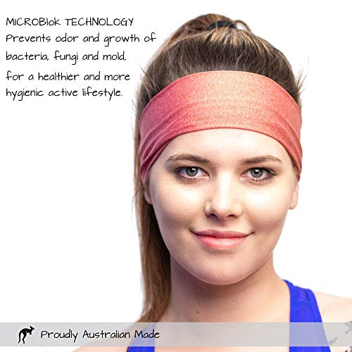 Red Dust Active Sports Headband - Lightweight, Wide & Moisture Wicking - The Ideal Red Running Sweatband - Designed for Women by Red Dust Active (Image #3)