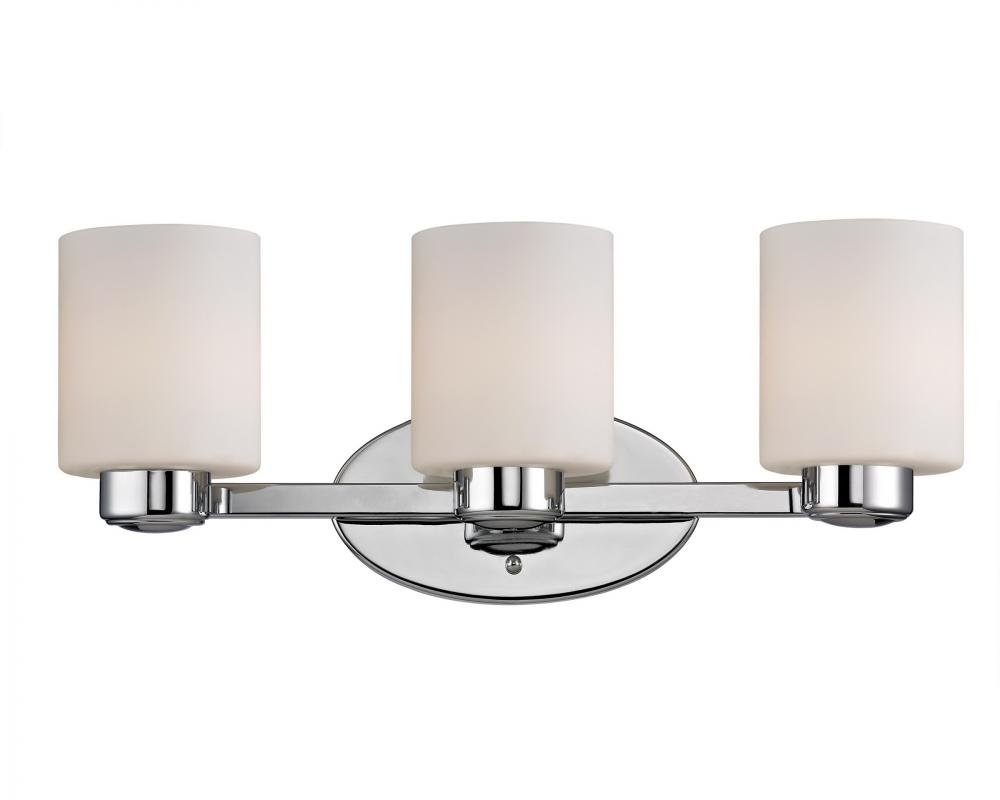 Dolan designs 3433 26 3lt bath chrome brookings 3 light bathroom fixture amazon com