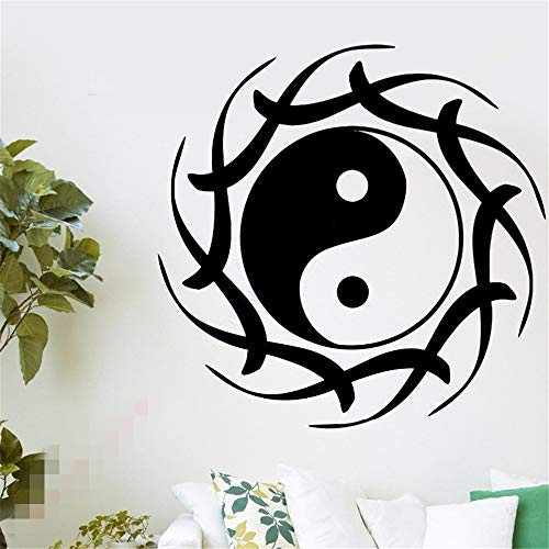(Seois Wall Sticker Decal Mural Window Vinyl Decal Quote Art Buddha Yin Yang Lotus Meditation)