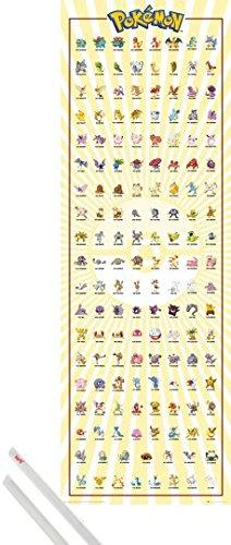 amazon com poster hanger pokemon door poster 62x21 inches