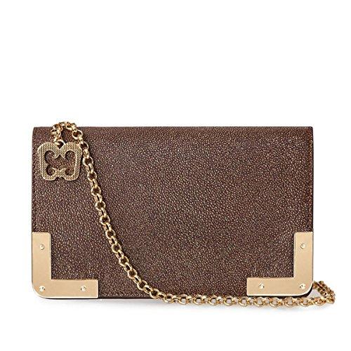Eric Javits Luxury Fashion Designer Women's Handbag - Cassidy - Bronze by Eric Javits