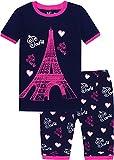 Little Girls Summer Pajamas Children Cartoon Tower Clothes Kids 2 Pieces Short Set Size 6 Years