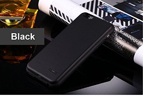 """Imixcity® Portable Ultra Rallonge Téléphone Coque Batterie-Coque Fine avec Batterie Rechargeable pour iPhone 6/6S Plus (pour iPhone 6 Plus/6s Plus 5.5"""", Noir)"""