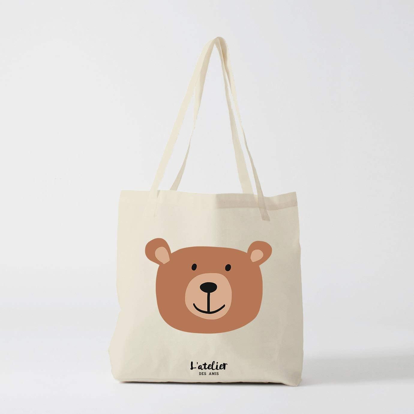 Bolso de tela con oso de peluche, bolsa de algodón, bolsa de la ...