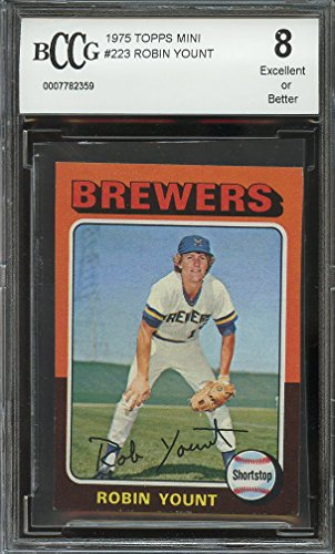 Topps Mini 1975 Robin Yount #223 Milwaukee Brewers BCCG 8