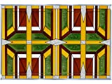 Prairie 2 Earthy 20.5'' x 14'' Horizontal Stained Glass Panel