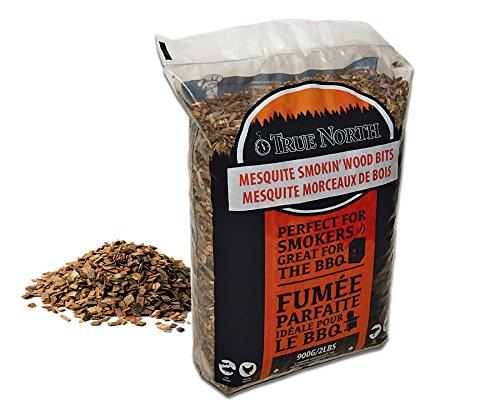 Canadian Pure and Simple ♨ Bois pour Fumage Barbecue 900g - Petits Morceaux de Bois Mesquite séché - Bois pour fumoir et Barbecue
