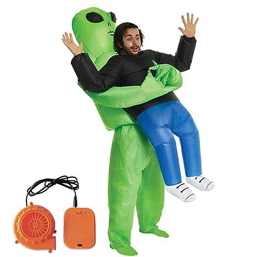Leo565Tom Halloween - Disfraz Hinchable para Fiesta, Disfraz de Fantasma Verde, Disfraz Hinchable con Flores
