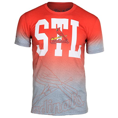 St. Louis Cardinals Gray Gradient Tee Large