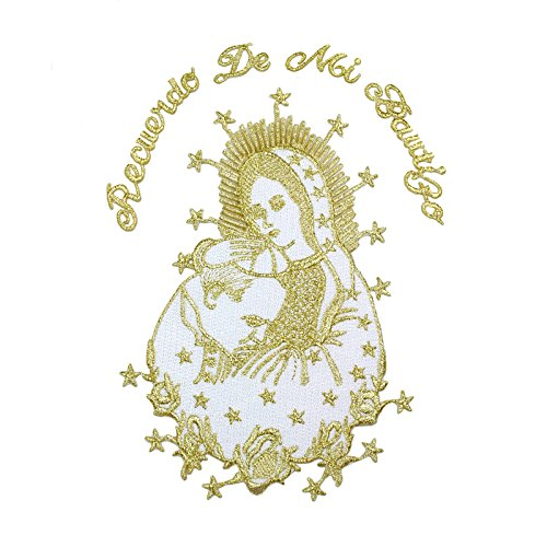 Baby Christening Baptism White Blanket Gold Silver Embroidery Virgin Mary Pope