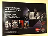 AMD 4-in-1 Game Coupon - FarCry3 - HitMan Absolution - Sleeping Dogs - Tomb Raider
