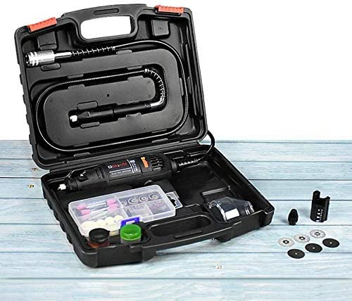 GOXAWEE Rotary Tool Kit with MultiPro Keyless Chuck and Flex Shaft Renewed 140pcs Accessories Variable Speed Electric Drill Set for Crafting Projects and DIY Creations