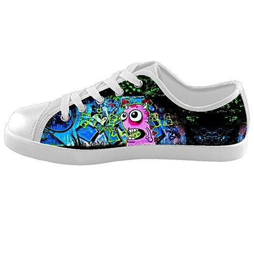 Custom Lop-top Graffiti Canvas Shoes Footwear Sneakers Flat Shoes Kid's Shoes