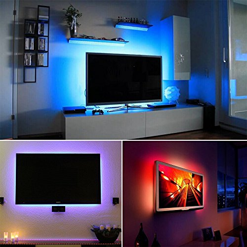 SMYLLS LED Multi color TV Backlights Kit Home Movie Theater Decoration Suitable for 40 to 55 Screen Extra 5V Power Adapter