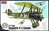 Roden Sopwith F.1 Camel British-Built Biplane Fighter with Bentley Airplane Model Kit