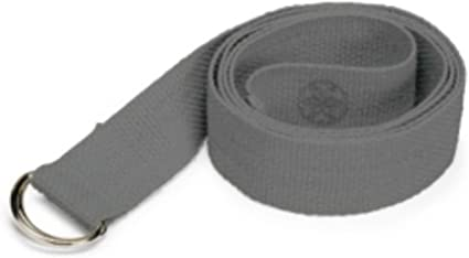 Amazon Com Gaiam Yoga Strap 8ft Stretch Band With Adjustable Metal D Ring Buckle Loop Exercise Fitness Stretching For Yoga Pilates Physical Therapy Dance Gym Workouts Storm Sports Outdoors