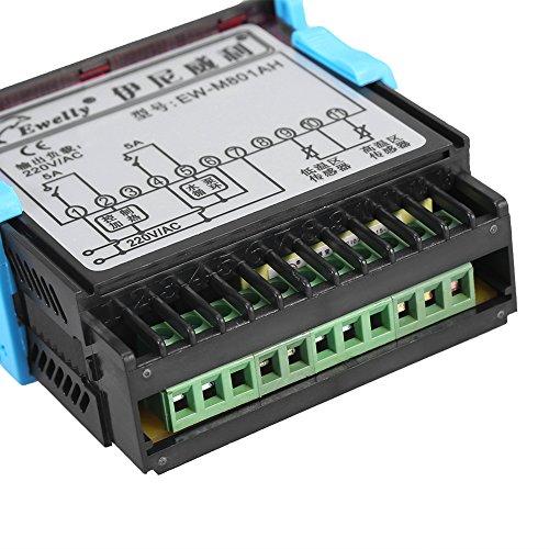 Termostato de Calentador de Agua Solar Controlador de Temperatura Digital Termostato con Sonda de Sensor CA 220V 5A: Amazon.es: Industria, ...