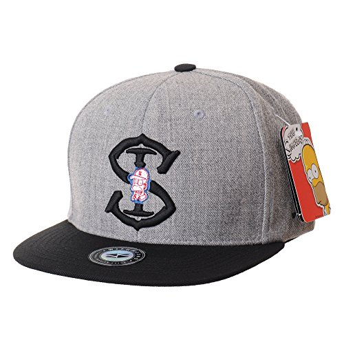 Homer Baseball (WITHMOONS The Simpsons Baseball Cap Homer Simpson Snapback Hat HL2812 (Grey))