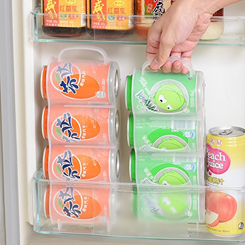 KINGZHUO Can Organizer Soda Can Dispenser Useful Refrigerator Storage Box  Kitchen Accessories Beverage Can Rack Four ...