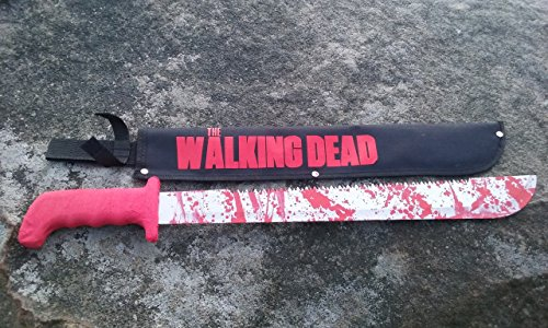 The Walking Dead Rick Griams Red Handle Machete Prop Zombie Killer (Killer Prop)